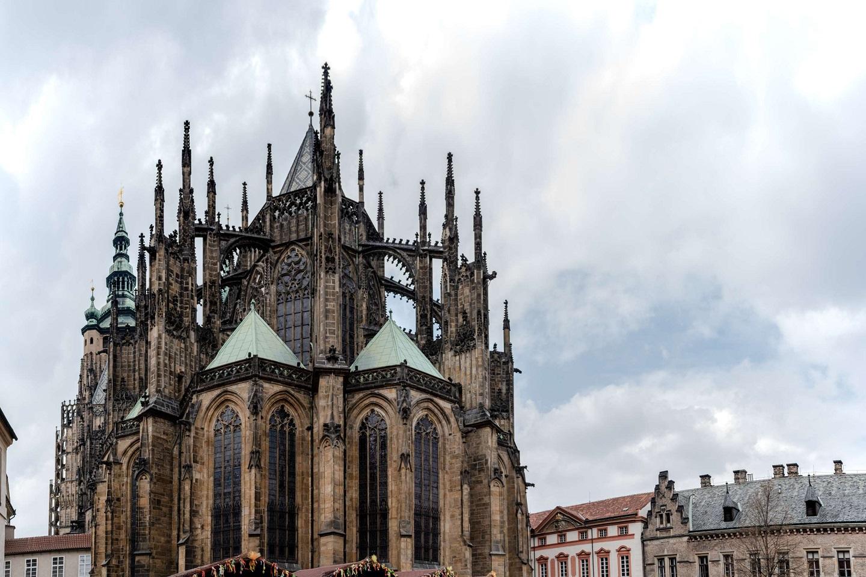 A close shot of the Prague Castle