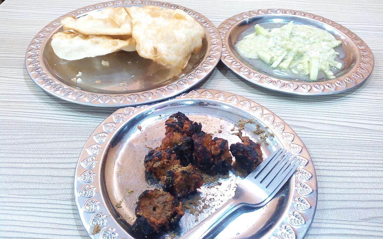 Kabab and roti in Kababwala