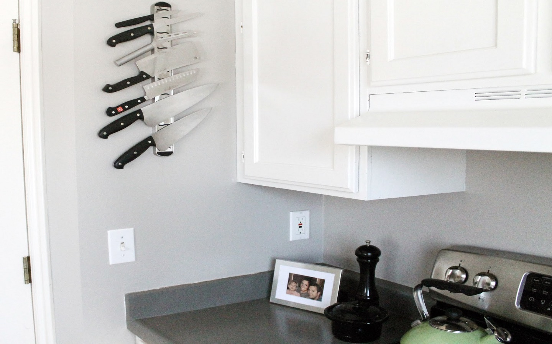 magnetic strip in kitchen