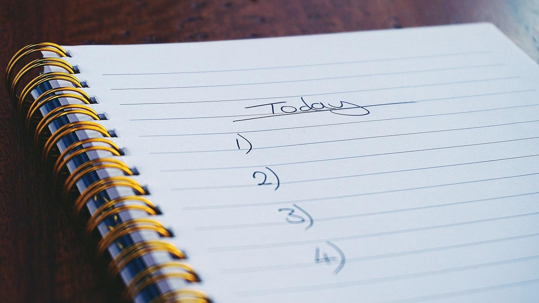checklist diary