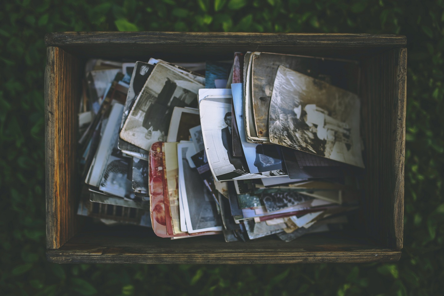 A box full of pictures