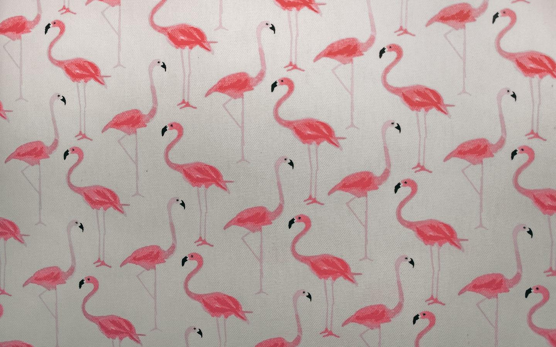 Wall Painting of Flamingos