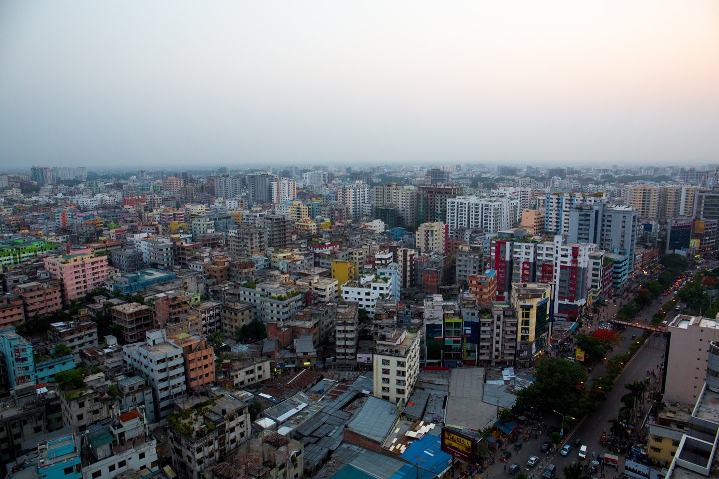 aerial view of Dhaka city