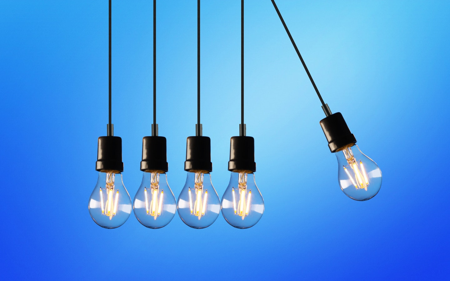 Lights with a cooler tone are more suitable in a working environment