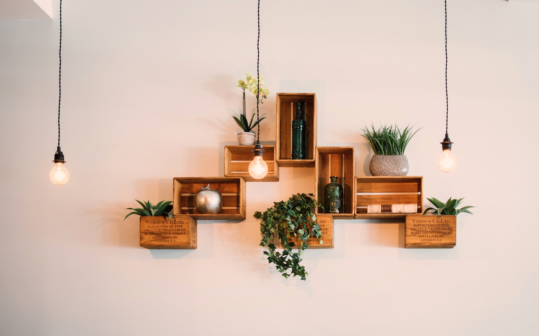 Floating shelves are trendy!