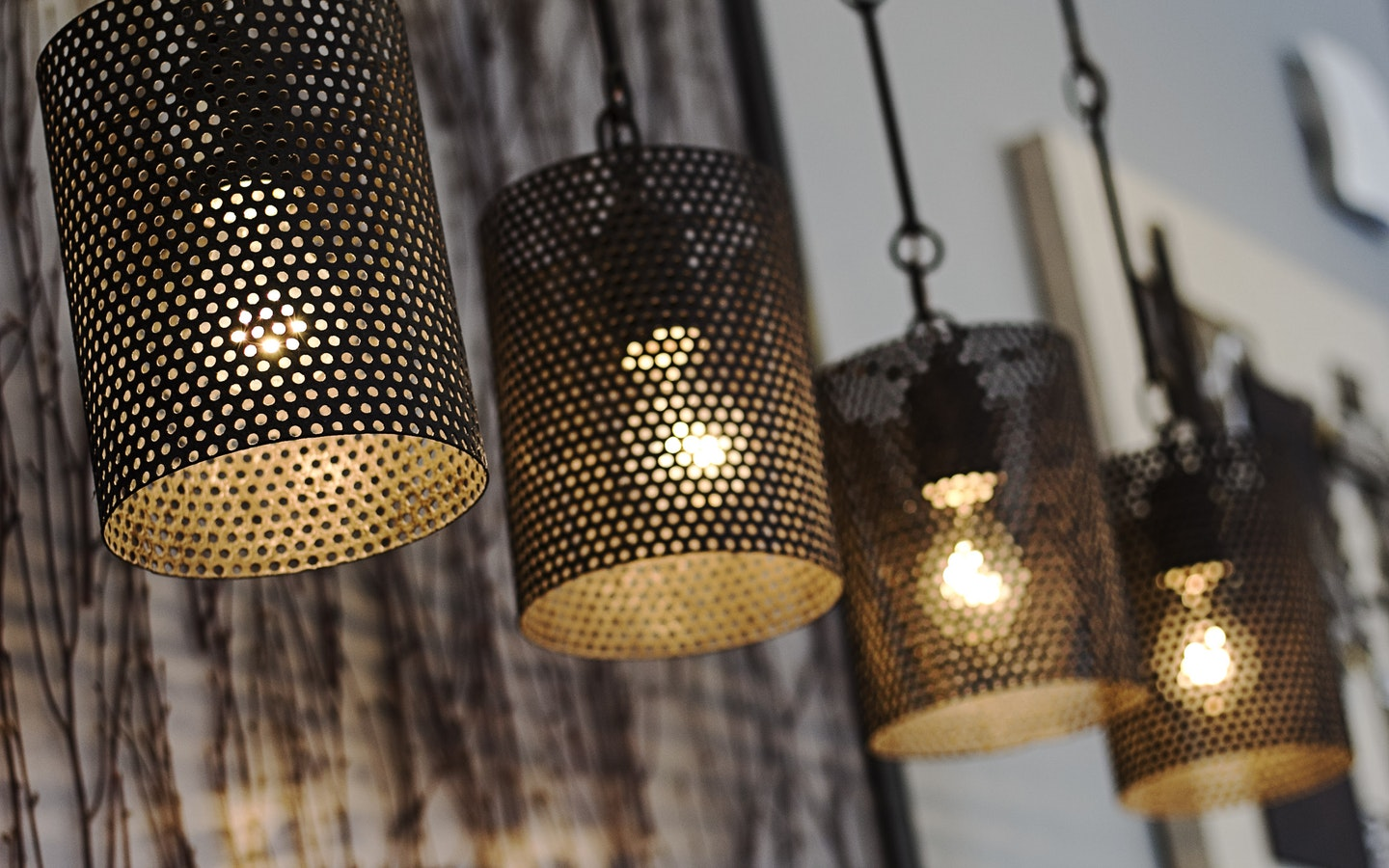 Upgrade your home by setting up hanging pendants.
