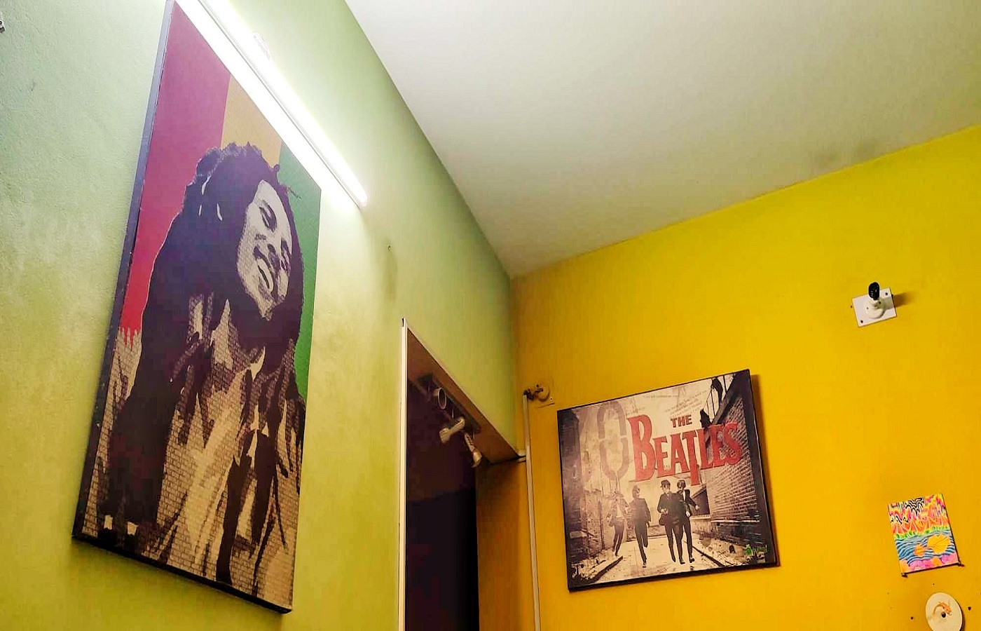 Posters on the wall