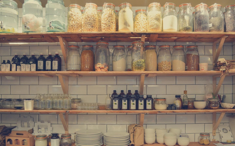full kitchen shelves