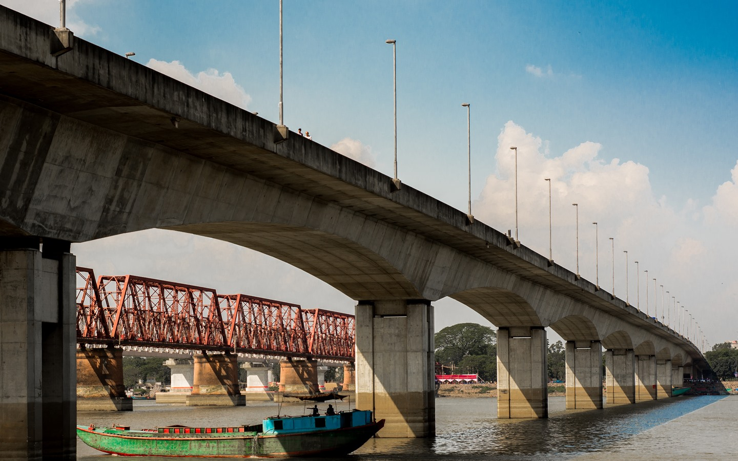 Meghna Bridge is one of the most used bridges in Bangladesh