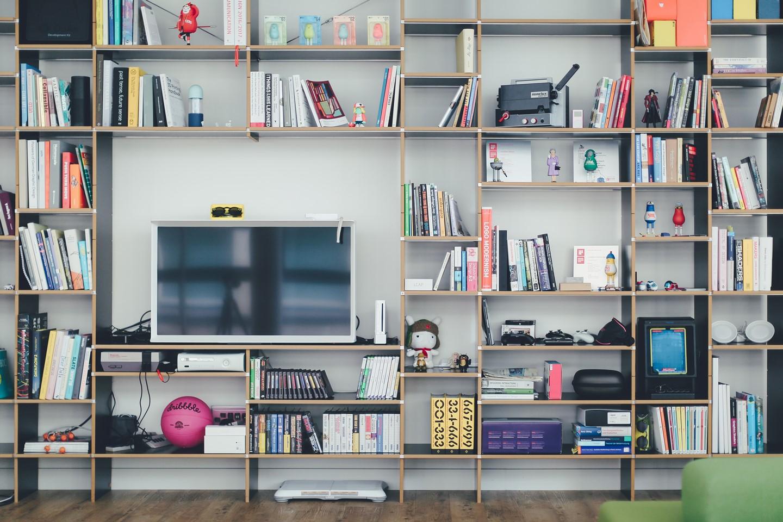 a multipurpose book shelf